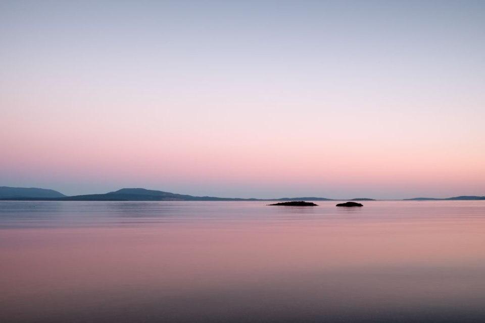 Pender Island seascape twilight